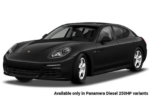 Porsche Panamera jet Black Metallic Diesel 250HP Variant Color