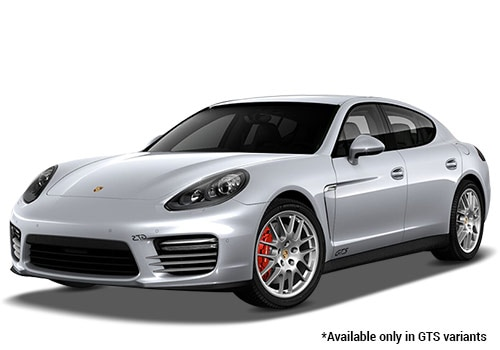 Porsche Panamera Rhodium Silver Metallic GTS Variant Color