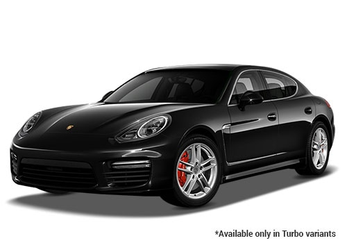 Porsche Panamera Jet Black Metallic Turbo Variant Color