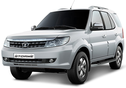 Tata Safari StormeArctic Silver Color