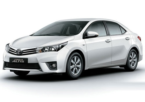 Toyota Corolla Altis White Pearl Crystal Shine Color