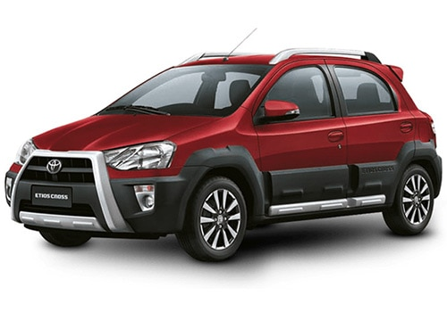 Toyota Etios Cross Vermilion Red Color