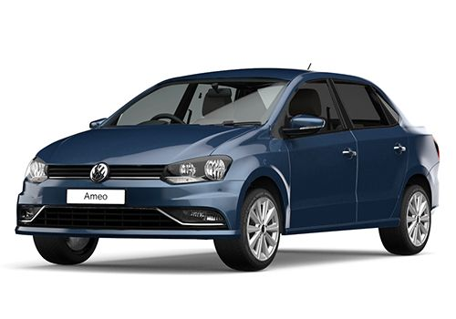 Volkswagen Ameo Blue Silk Color