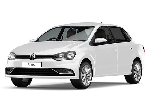 Volkswagen Ameo Candy White Color