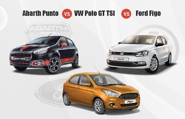 Abarth Punto Evo vs Ford Figo vs Volkswagen Polo GT