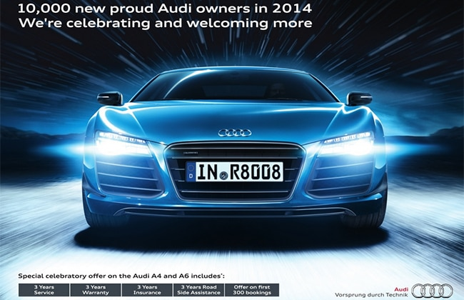 Audi India Celebrates 10,000 Sales in 2014, Special Offer on 300 units of A4 and A6!