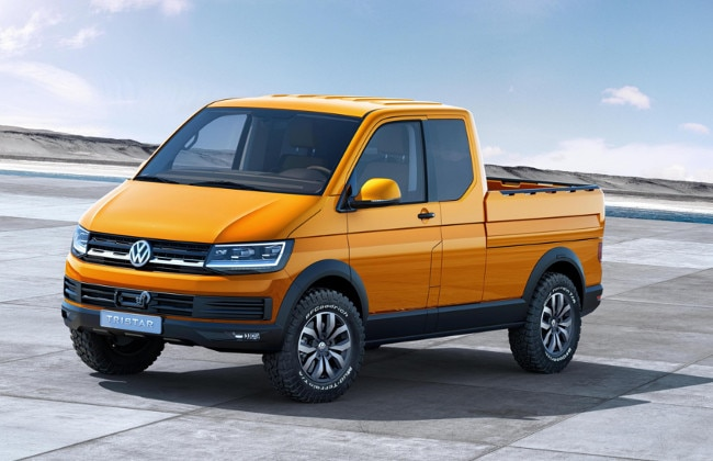 VW Tristar, a pick-up truck with an espresso machine