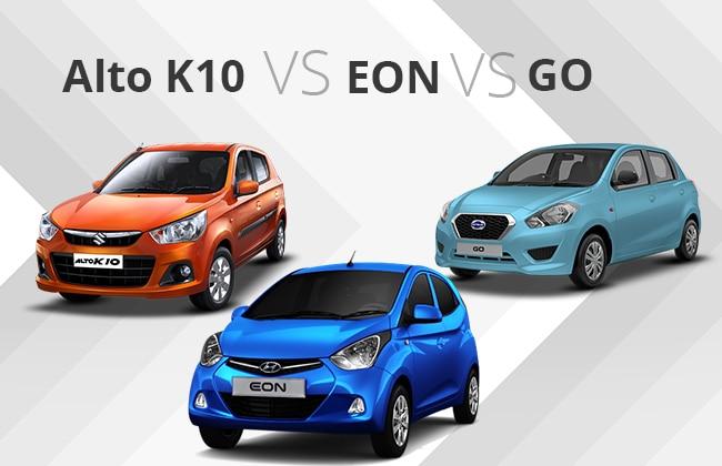 Alto K10 vs EON vs GO