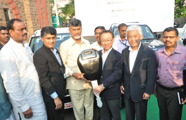 Isuzu donates 5 D-MAX pick-up vehicles to Andhra Pradesh Chief Ministerâ??s Relief Fund