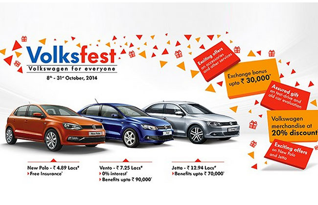 Volkswagen Volksfest 2014 to be held across India from 8th to 31st October