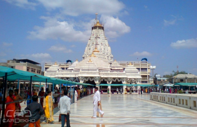 Ambaji temple. One of the Shakti Pithas sees hoards of devotees during Navratri