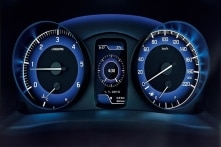 We love the futuristic design on the instrument cluster with graphic readouts.