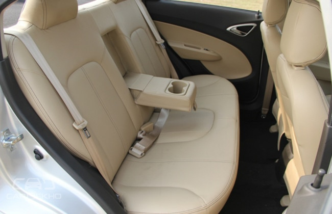 Sail's seats are comfy; short armrest not comfortable; storage area under the seat useful