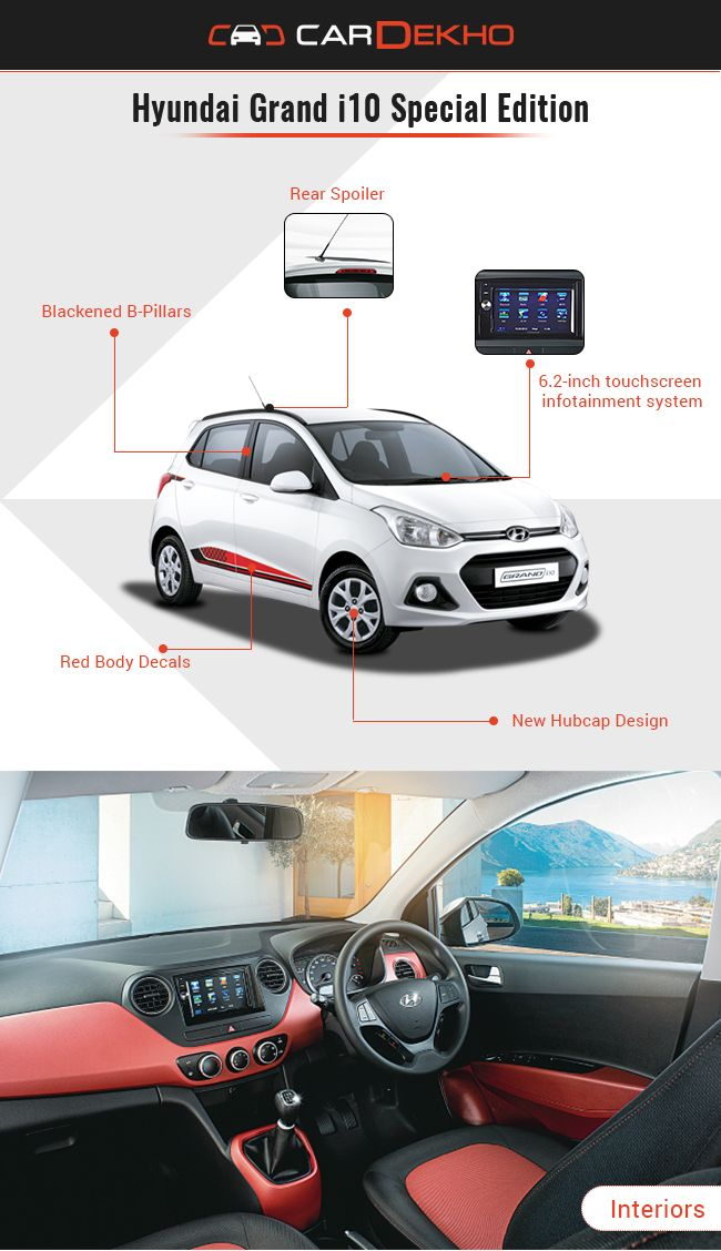 hyundai grand i10 special edition launched at rs lakh. Black Bedroom Furniture Sets. Home Design Ideas