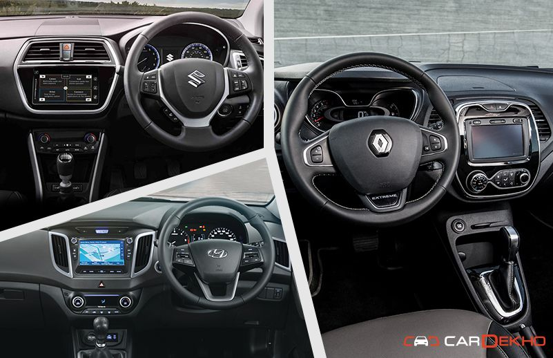 Renault Captur vs Creta vs S-Cross: Interior